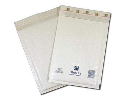 MailLite White E2 Bubble Lined Postal Bag (100/Box)