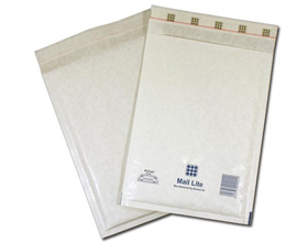 MailLite White H5 Bubble Lined Postal Bag (50/Box)