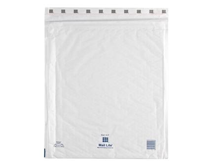 MailLite White K7 Bubble Lined Postal Bag (50/Box)