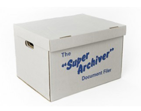 Large Archive Box with Lid (10 Pack)