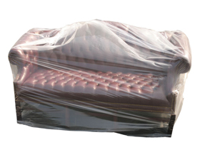 Clear Polythene 3 Seat Sofa Cover