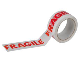 Fragile Packing Tape (46mm x 66m) - 6 Pack