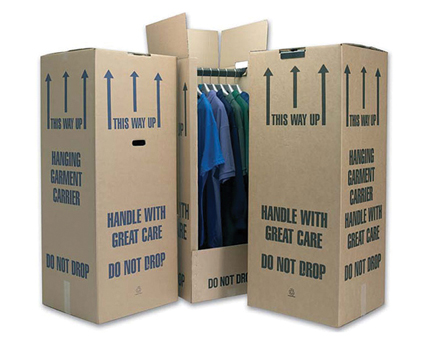 Extra Tall Cardboard Wardrobe Box
