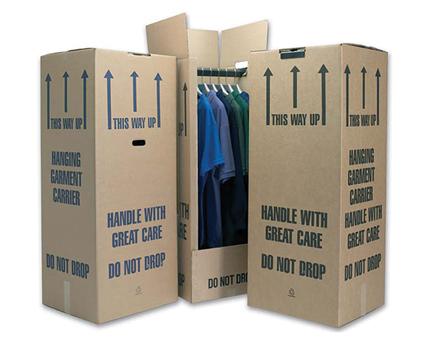 Extra Tall Cardboard Wardrobe Box